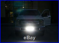 84W LED Light Bar with Lower Bumper Mounting Bracket, Wiring For 2017-up F250 F350