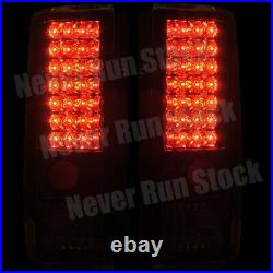 85-05 Chevy Astro Gmc Safari Red Clear Led Tail Lights +white License Plate Bulb
