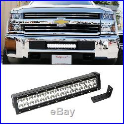 96W LED Light Bar with Lower Bumper Bracket, Wiring For 15-up Silverado 2500 3500