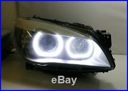 Acrylic Cover DTM-Style Square Bottom LED Angel Eyes Halo Rings For BMW 7 Series