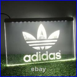 Adidas 3D Printed Bar Ivy Park Mancave Neon LED Sign Light Plaque Trainers White
