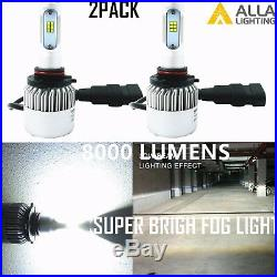Alla Lighting 8000lm H10 9145 Super White CSP SMD LED Fog Lights Driving Bulbs