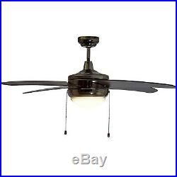 Black Ceiling Fan with Light Contemporary Modern Curved Blade Gun Metal Bla