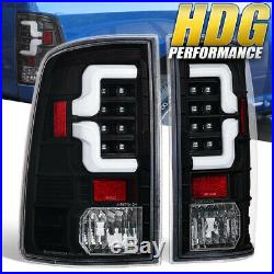 Black Tail Light Lamps White Led Tube For 09-18 Ram 1500 / 2010-2018 2500 3500