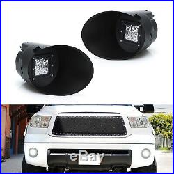 CREE LED Pod Light with Foglamp Bezels, Mounting Brackets, Wire For 07-13 Tundra