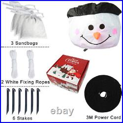 Christmas 6FT Giant Inflatable LED Light Up Snowman Decoration for Outdoor Xmas