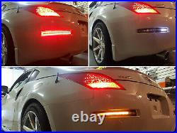 Clear Lens Sequential LED Turn Signal, Backup, Brake Lamp For 03-09 Nissan 350Z