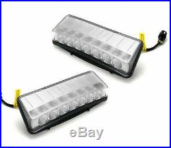 Clear Switchback LED Daytime Running Light/Turn Signal For 03-05 Nissan 350Z