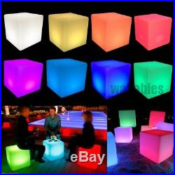 Cocktail Tables Chair Color Changing LED Clubbing Lighting Stool Night Stand