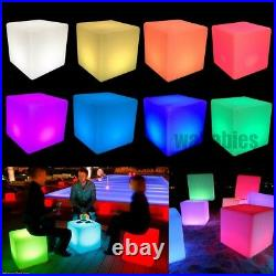 Cocktail Tables Chair Color-Changing LED Lighting Stool Night Stand Illuminated