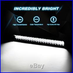 Curved 50 Inch LED Light Bar+20 Inch+4 PODS CUBE OFFROAD SUV 4WD UTV VS 54 52