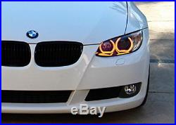 DTM Style Horseshoe RGB LED Angel Eye Rings with Acrylic Covers For BMW Headlights