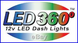 Dash Bulb to LED Conversion Pkg withWhite LED's 2003 04 05 06 GM Truck and SUV's