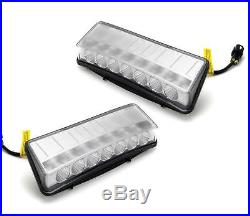 Direct Clear 7-LED Bumper Reflector Daytime Running Lights For 03-05 Nissan 350Z