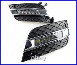 Direct Fit 12W White LED Daytime Running Lights For 09-11 Mercedes W164 ML-Class