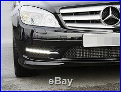Direct Fit LED Daytime Running Lights For 08-10 Mercedes W204 C-Class Sports Pkg