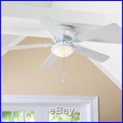 Energy Efficient Multi-Capacitor LED Indoor White Ceiling Fan with Light Kit