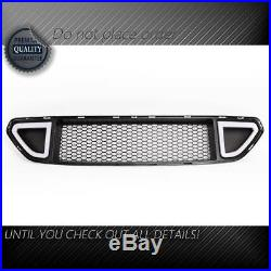 FIT 2015-2017 FORD MUSTANG HONEYCOMB MESH FRONT BUMPER UPPER GRILLE WithLED DRL