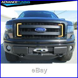 Fits 09-14 Ford F150 White Daytime Running light LED DRL with Amber Turn Signal