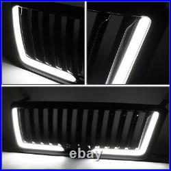 For 04-08 Ford F150 Badgeless Fence Style Dual Led Light Bar Front Bumper Grille