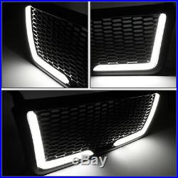 For 04-08 Ford F150 Badgeless Honeycomb Mesh Led Light Bar Front Bumper Grille