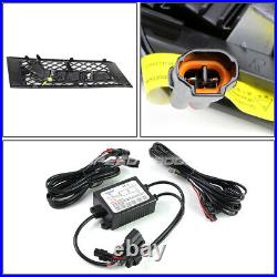 For 11-13 Bmw F10 5-series Non-m Bumper Fog Grill Led Drl Day Time Running Light