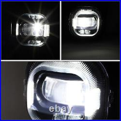 For 11-16 Ford F250-f550 Super Duty Clear Led Projector Driving Fog Light+switch