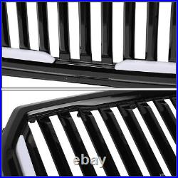 For 15-17 Ford F150 Badgeless Fence Style Dual Led Light Bar Front Bumper Grille
