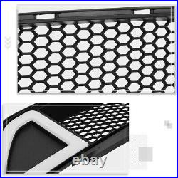 For 15-17 Ford Mustang Honeycomb Mesh Front Bumper Grille withTriangle LED Light