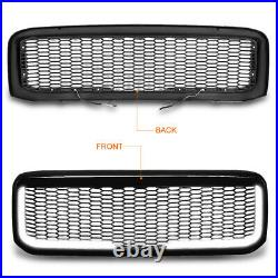For 99-04 Ford F250-F550 SD Honeycomb Front Bumper Grille Frame withLED Light Bar