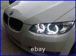 For BMW 1 2 3 4 5 Series Retrofit Acrylic Cover Crystal LED Angel Eye Halo Rings