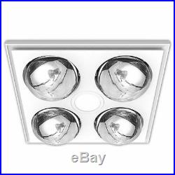 Heller 3 in 1 Ceiling Bathroom Exhaust Fan withHeater Heat Globes/LED Light White