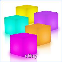 Illuminated Cocktail Tables Chair Color-Changing LED Lighting Stool Night Stand
