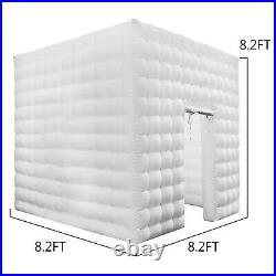 Inflatable LED Light Photo Booth Air Tent Wedding Party Christmas 2.5M Cube