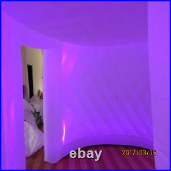 Inflatable Oval Photo Booth Air Tent Portable Photobooth withLED Lights and Blower