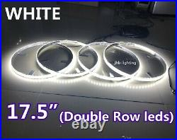 JHBS217.5 Double Row Brightest WHITE LED Switch Ctrl Wheel Rings Lights x4PCS