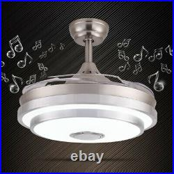 LED Ceiling Fan Light Bluetooth speaker Remote control Warm & Cool Natural White