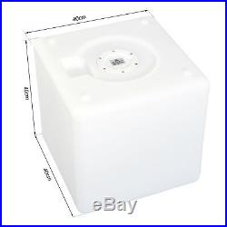 LED Illuminated Cube Light Decoration Rechargeable 16 RGB Colors Waterproof