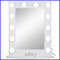 Large Hollywood Makeup Mirror Tabletop Vanity Lighted Dimmable 14 FREE LED Bulbs