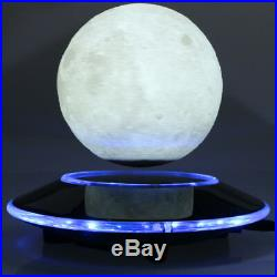 Levitating moon lamp Floating and Spinning in the Air Freely with Gradient Warm