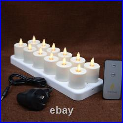 Luminara Rechargeable Tea Lights Moving Flicker Flameless Led Candles with Timer