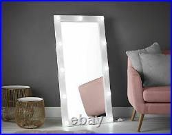 Luxury Large Hollywood Mirror Wall Mounted with LED Lights Makeup Bedroom White