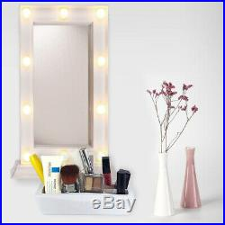 Make Up Mirror With 10 LED Warm White Light Bulb Vanity Cosmetic Dressing Mirror