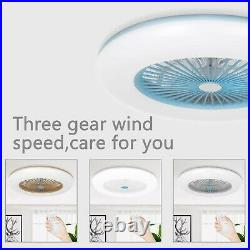 Modern Ceiling Fans LED Light Adjustable Wind Speed Dimmable IR Remote Control