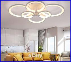 Modern Chandelier LED Acrylic Ceiling Light with Remote Control Flush Mount Lamp