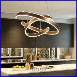 Modern Chandeliers LED Lamps Living Room Circle Ring Dimmable Pendant Light Bed