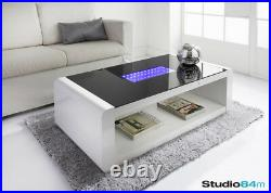 Modern Stylish LED Infinity High Gloss Luxury Home Coffee Table With LED Lights