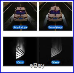 NEW For BMW White Angel Wing LED Courtesy Welcome Light Carpet Floor Projector