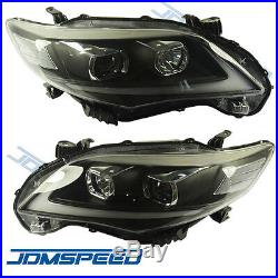 New Headlights DRL Halo LED Projector Head lights For 2011-2013 Toyota Corolla