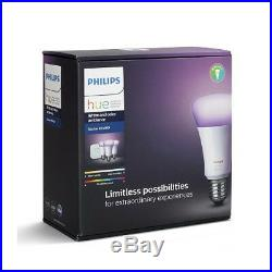 New Philips Hue 3.0 White and Color Ambiance Starter Kit A60 (Light+Bridge Set)